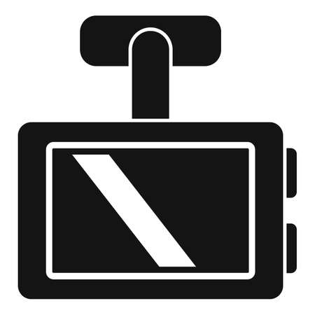 Vehicle dvr icon, simple style