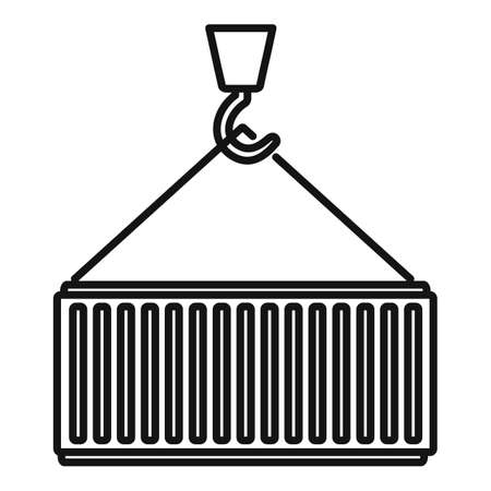 Cargo container icon, outline style Reklamní fotografie