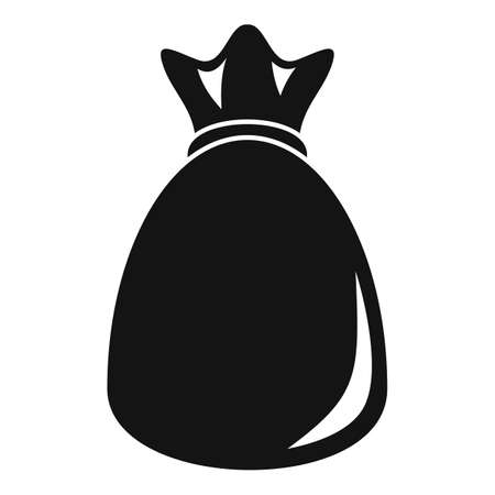 Money bag icon, simple style