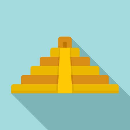 Brazil pyramid icon, flat style Stockfoto
