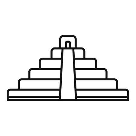 Brazil pyramid icon, outline style Stockfoto