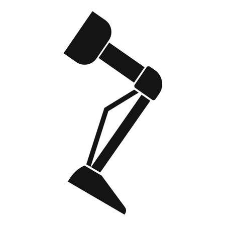 Prosthesis leg icon, simple style