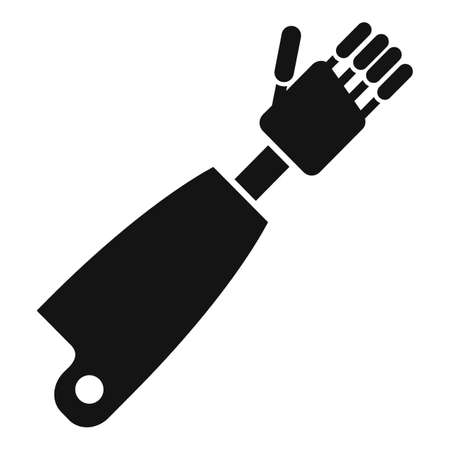 Prosthesis hand icon, simple style