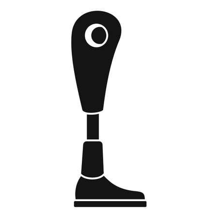 Modern leg prosthesis icon, simple style