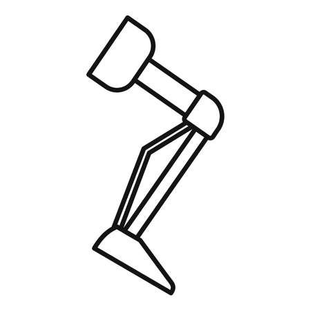 Prosthesis leg icon, outline style