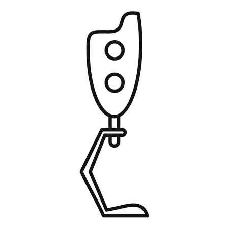 Biotechnology leg icon, outline style Stok Fotoğraf