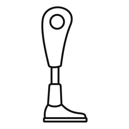 Modern leg prosthesis icon, outline style Stok Fotoğraf