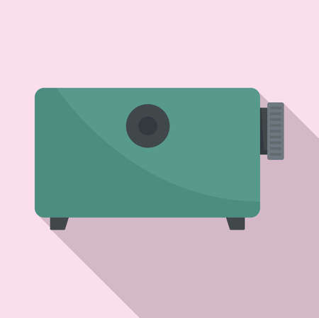 Film projector equipment icon, flat style