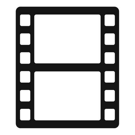 Animation film icon, simple style