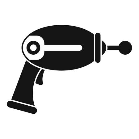 Toy blaster icon, simple style