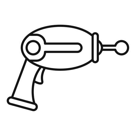 Toy blaster icon, outline style