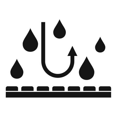 Waterproof fabric feature icon, simple style Stock fotó