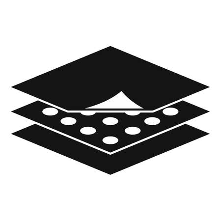 Resistant fabric feature icon, simple style