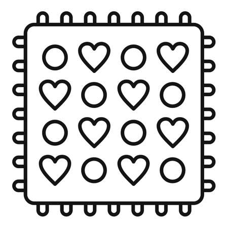 Fabric feature icon, outline style