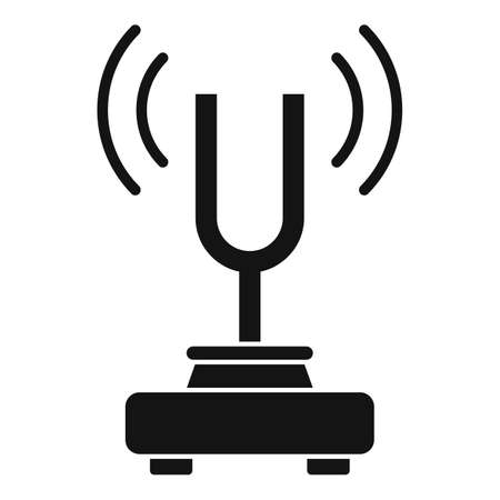 Physics sound stand icon, simple style