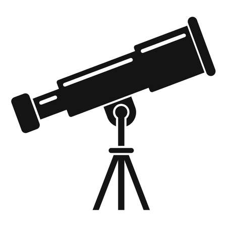 Telescope icon, simple style Stok Fotoğraf