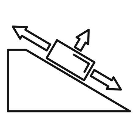 Angle object physics icon, outline style