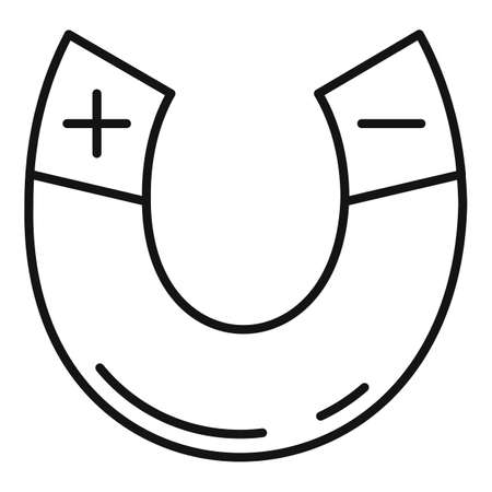 Physics magnet icon, outline style Stock fotó