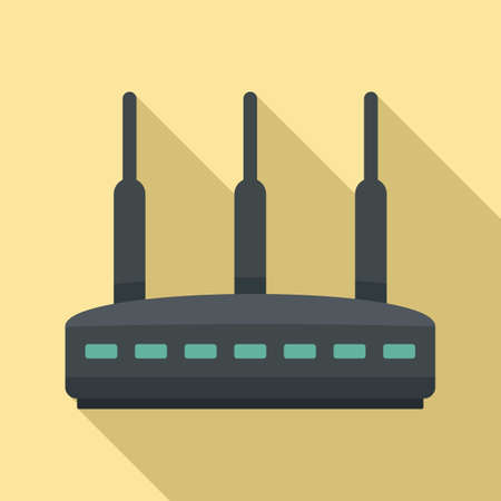 Modern router icon, flat style