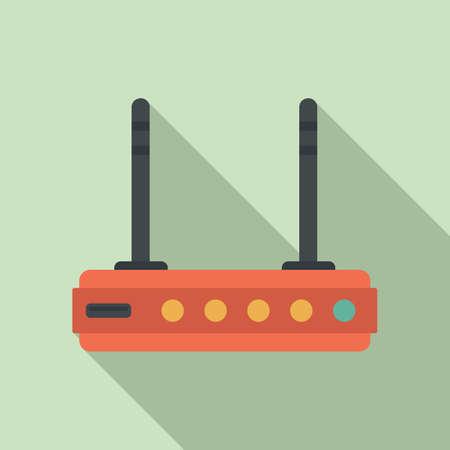 Wifi router icon, flat style Stock fotó