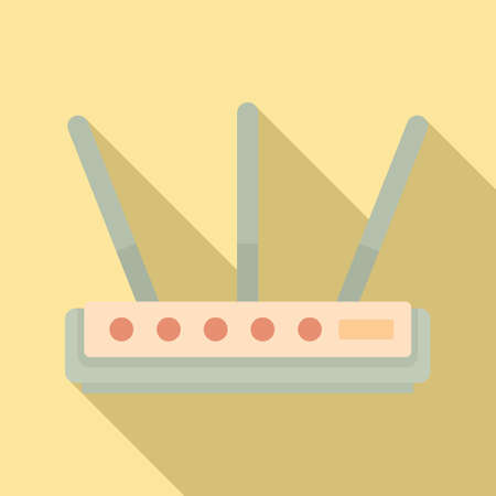 Internet router icon, flat style