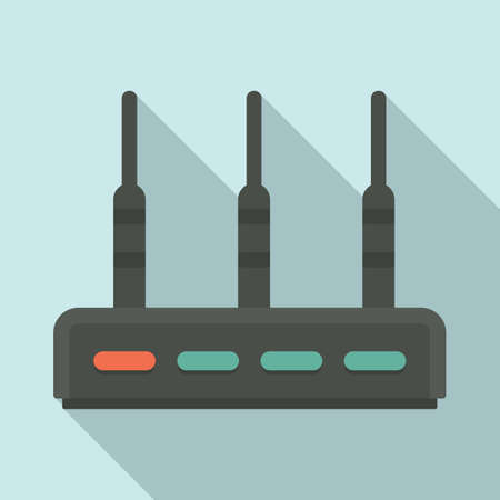 Communication router icon, flat style Stock fotó