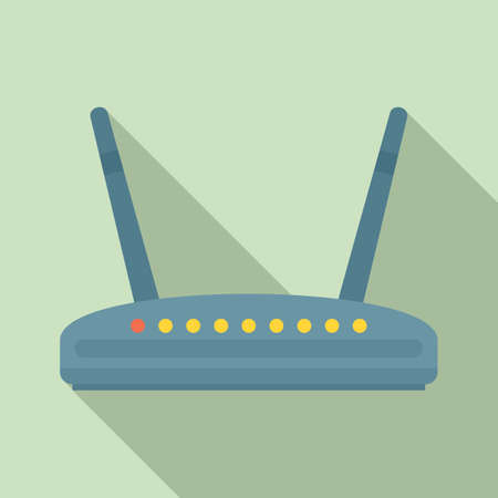 Computer router icon, flat style
