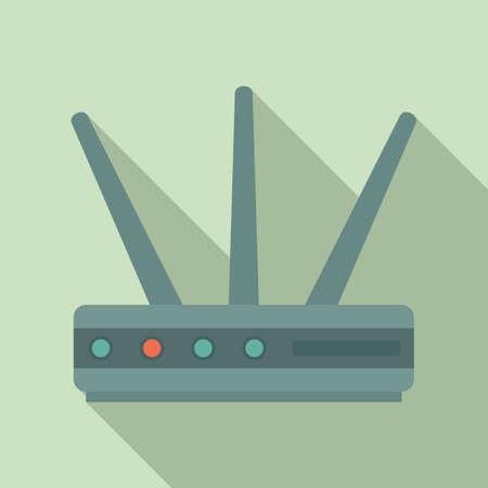 Data router icon, flat style Stock fotó
