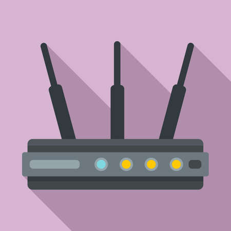 Network router icon, flat style