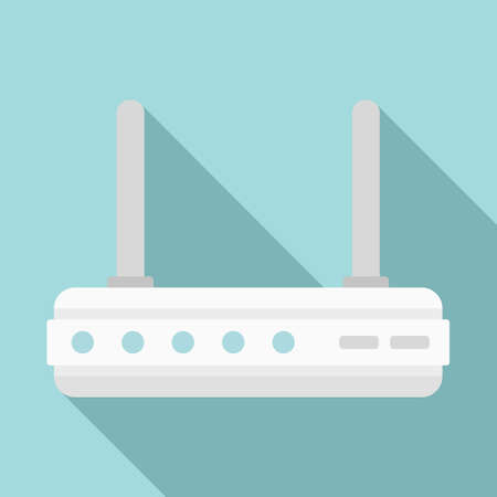 router icon, flat style