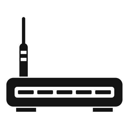 Router icon, simple style