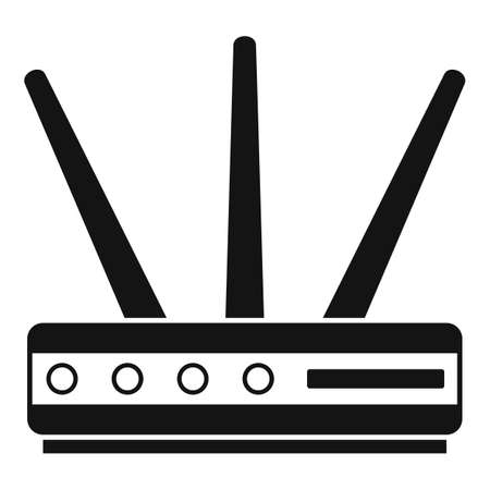 Data router icon, simple style
