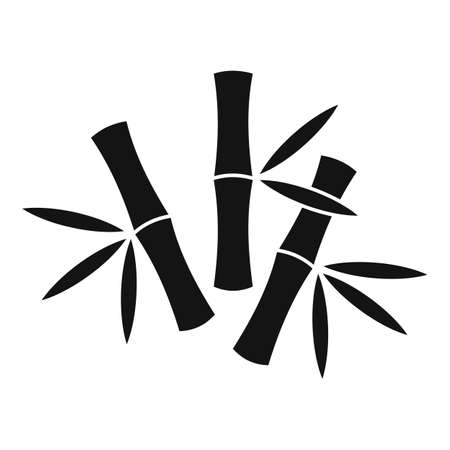 Asia bamboo icon, simple style
