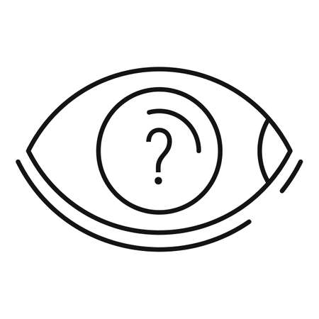 Quest eye question icon, outline style Stock fotó