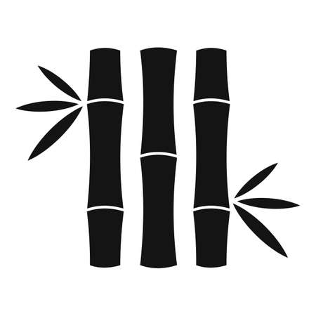 Tree bamboo icon, simple style