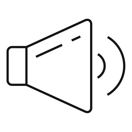 Music play icon, outline style