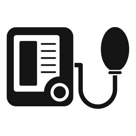 Pulse measurement device icon, simple style