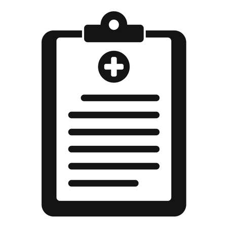Medical cardboard icon, simple style Stockfoto