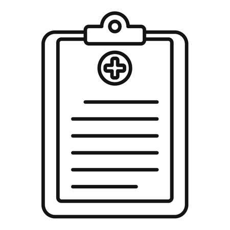 Medical cardboard icon, outline style