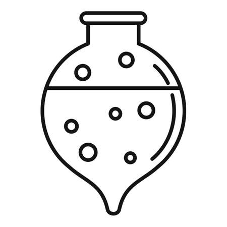 Hospital boiling flask icon, outline style Stock Photo