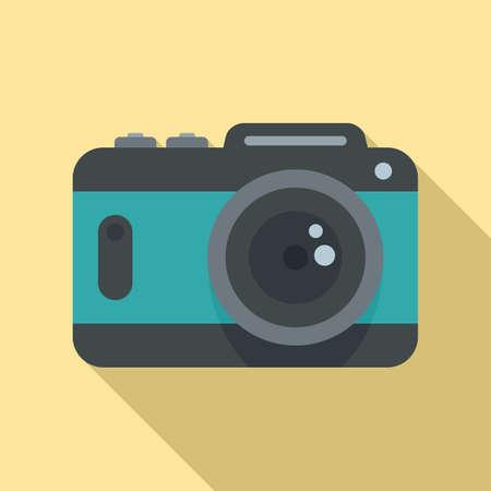 Camera icon, flat style Stock fotó