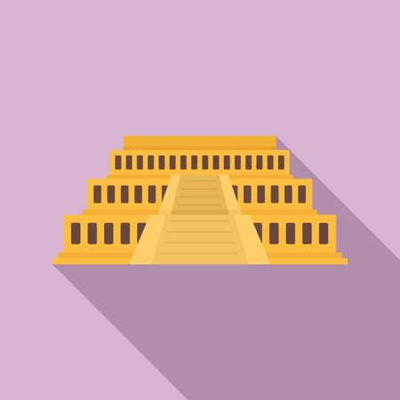 Big Egypt temple icon, flat style Stockfoto
