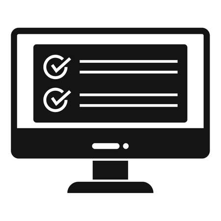 Computer monitor icon, simple style Stock fotó
