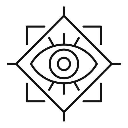Spiritual eye icon, outline style Stock Photo