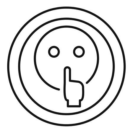 Head symbol quiet icon, outline style Stockfoto