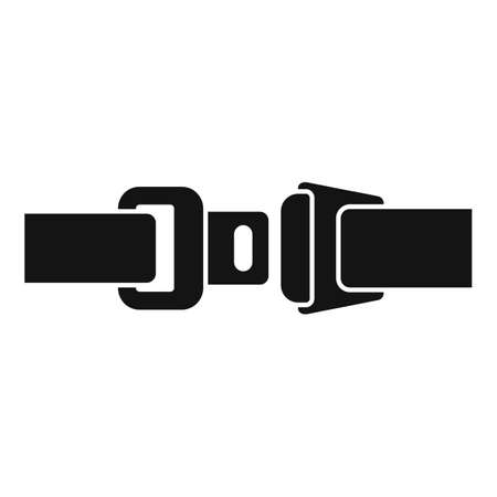 Drive seatbelt icon, simple style