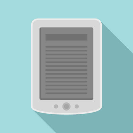 Ebook tablet icon, flat style