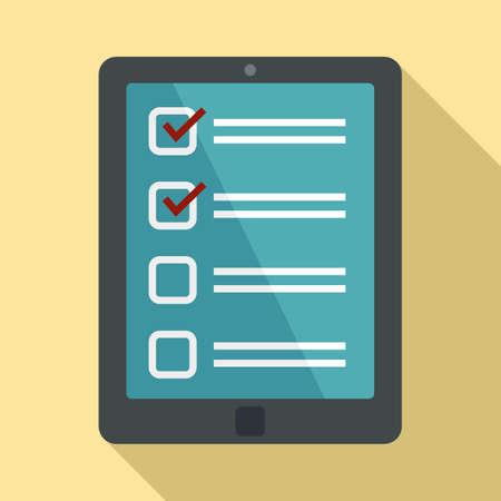 Inventory tablet icon, flat style Reklamní fotografie
