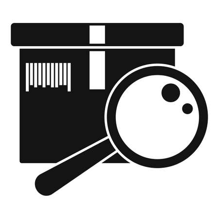 Inventory magnifier icon, simple style