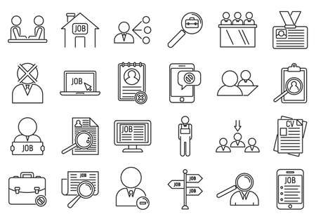 Unemployed office icon, outline style